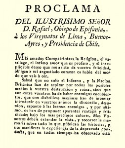 Primera página de la proclama